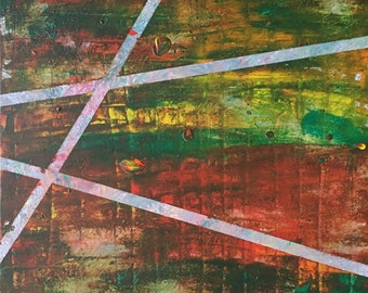 Crescendo - Abstract Painting by Teddy Engel
