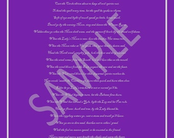 DOWNLOADABLE Wiccan Rede Poster in Purple/Silver