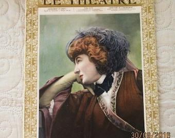 1906 LE THEATRE MAGAZINE, vintage theatre, french theatre, actors/actresses, french advertising, art nouveau costumes