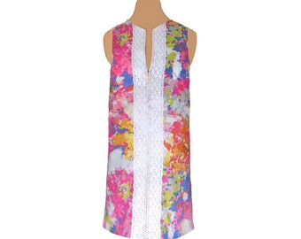 Floral Watercolor Shift Dress