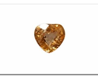 Yellow heart Sapphire 2.70 carats