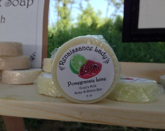 Pomegranate Lime Soap and Shave Bar
