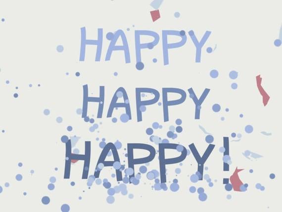 "Flip book (flipbook) ""Happy Birthday"""