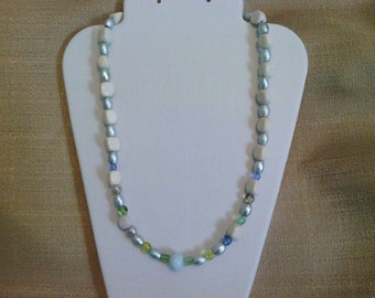 201 Beautiful Silver Nuggets Beaded Necklace