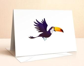 Wild Adventure - Toucan Card | Birthday Card | Kids Birthday | Nursery Art | Greeting Cards | Toucan Print | Toucan Illustration | Art Card