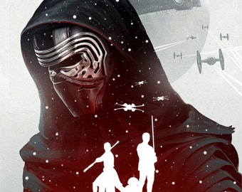 Star Wars The Force Awakens Kylo Ren Poster