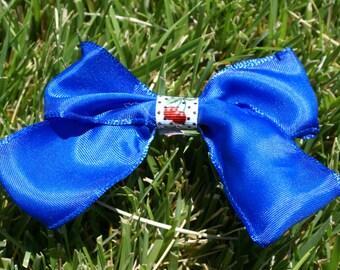 Blue Cherry Hair Bow