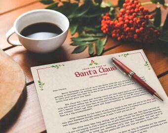 Santa Letter, Personalized Letter From Santa, Letter From Santa, Custom Santa Letter, Santa Claus Letter, Santa Letter Printable