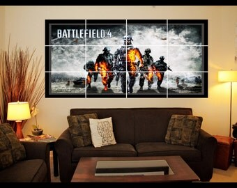 Playstation/Xbox Battlefield Wall Art Poster