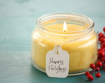 100% Honey Beeswax Candles