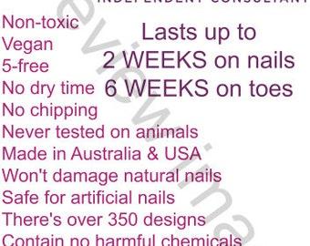 Jamberry Display Sign for Markets - Australia