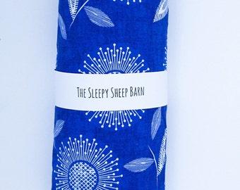 Crib Sheet - Baby Sheet - Baby Bedding - Toddler Bedding - Toddler Sheet - Nursery Bedding - Fitted Crib Sheet - Blue - Sunflower -Baby Girl