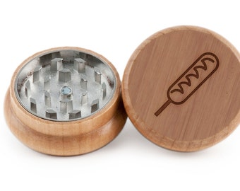Corndog Herb Grinder, Wood Grinder, Spice Grinder, Personalizable and Customizable Gift, Groomsmen Gift
