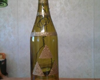 Triforce wine bottle lantern