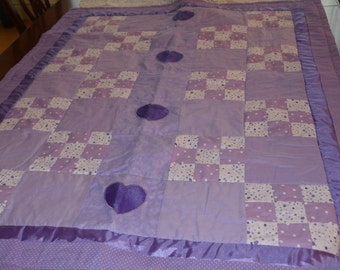 Purple Hearts Quilt