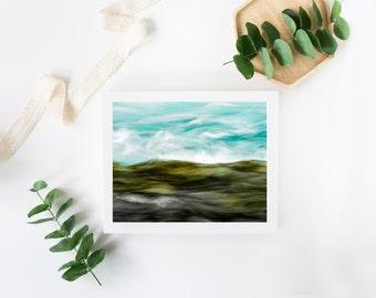 Fine Art Photography Water Waves Landscape Wall Art Print