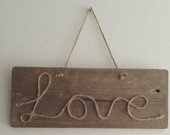 Wooden love plaque