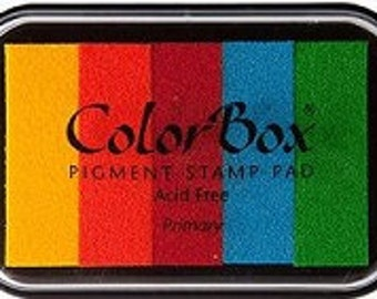 Ink Stamp Pad  Rainbow  Colorbox pigment ink