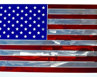 "American Flag- cut from 12 ga steel- metal sign 19"" x 23"""