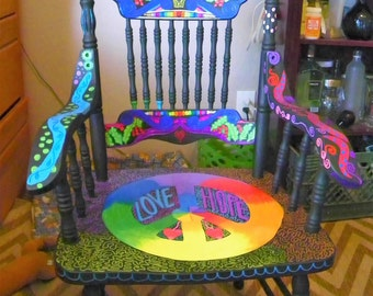 Funky Bohemian Painted Chair