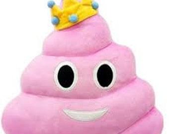 Pink Princess Emoji Poop Pillow-free shipping