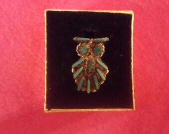 Zuni Owl Pin