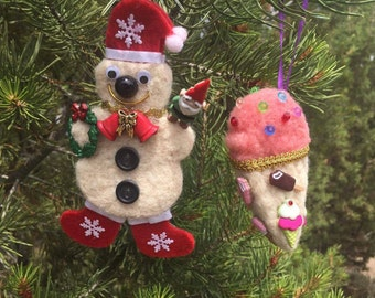 Hand Felted Christmas Ornaments