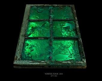 Green Broken Glass Light Fixture