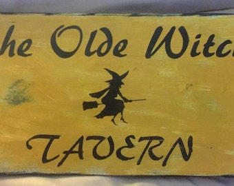 Handmade country wooden sign for Fall- halloween
