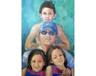 Retrato personalizado de familia
