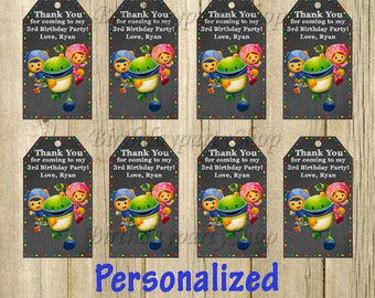 Team Umizoomi Favor Tag , Umizoomi Birthday , Thank You Tags, Personalized, Digital File