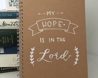 Customized Hand-Lettered Kraft Journal