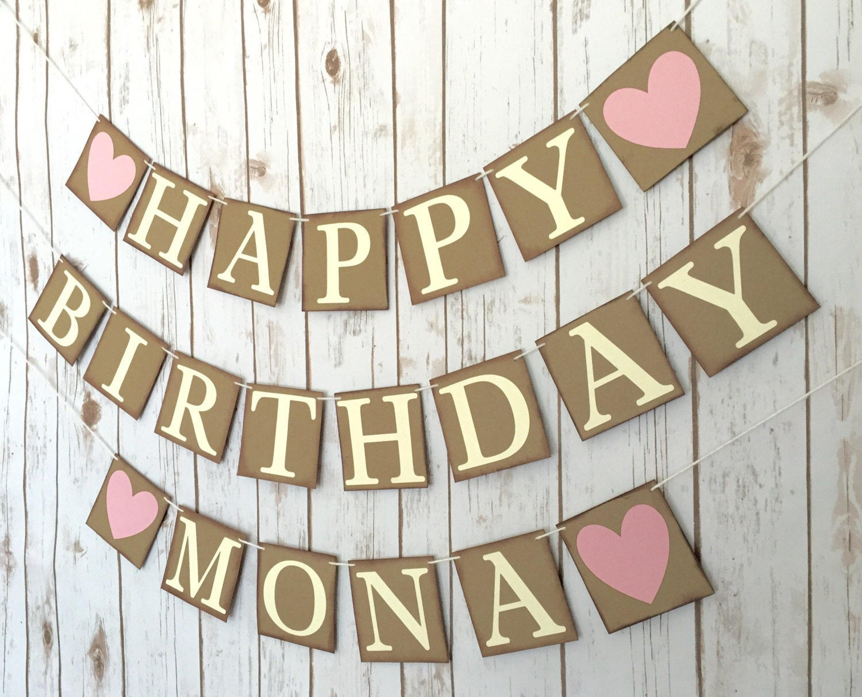 custom happy birthday banner happy birthday sign personalized