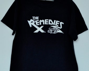 Vintage The Remedies T Shirt party band Underground Rock N' Roll Punk Rock Large Size