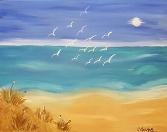 Seagulls leaving the Scene by C.Becker