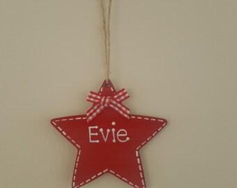 Personalised, christmas tree decoration
