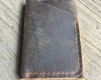 Bison Leather Wallet 2 Sleeve