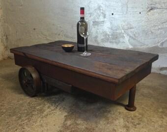 Coffee table coffee table oak steel