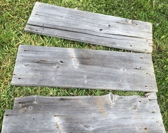 175 year old barn boards- 3 pieces