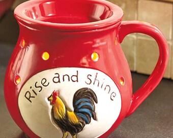 Rise and Shine Rooster Wax Melt Warmer Tart Burner