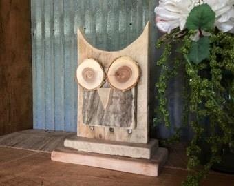 Rustic Owl Decor, Wooden Owl, Reclaimed Wood, Mantle Decor, Shelf Decor, Owl
