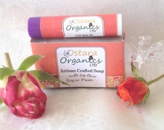 Organic soap and Lip balm combo. Non GMO chemical free