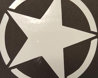 Jeep Army Star Vinyl Decal