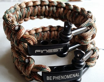 Finestbay 550 Paracord survival bracelet- Fashion, strong and quality for all