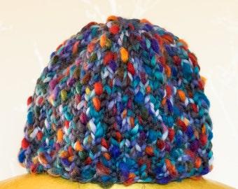 Alice handknitted beanie hat in 'mermaid blue'