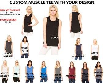 Custom Muscle Tee - YOUR DESIGN!!
