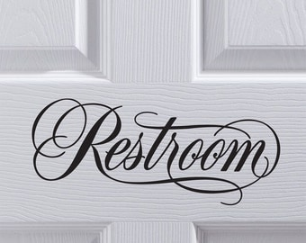 Restroom Vinyl Decal / Sticker