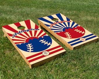 Texas Rangers Cornhole Board Set