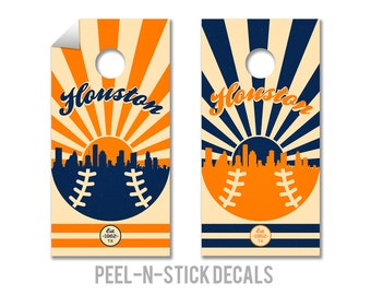 Houston Astros Cornhole Board Decals