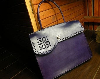 Totes/Custom made/customized/portable bag/hand tooled/hand made/hand carving/vintage handbag/personalized
